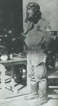 Capt. Mitsuo Fuchida in air flight uniform.